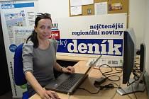 Herečka Slováckého divadla v Uherském Hradišti Tereza Novotná při on-line rozhovoru ve Slováckém deníku.