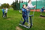 Nové workoutové cvičiště za velehradskou školou