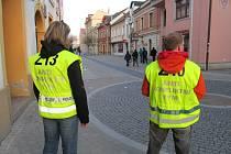 Fanoušky Baníku v Hradišti hlídali příslušníci antikonfliktního týmu.