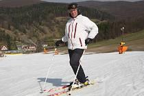 Jarní lyžování ve středisku Stupava na Uherskohradišťsku.