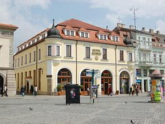 Masarykovo náměstí v Uh. Hradišti. Ilustrační foto.