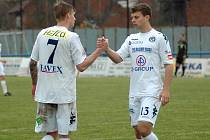 Ilustrační foto. FC Slovácko B. Matěj Biolek (vlevo)