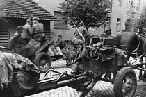 Armáda v ulicích Uherského Hradiště.