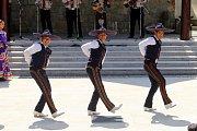 Vystoupení mezinárodních folklórních souborů v  muzeu J. A. Komenského  v Uherském Brodě. Na snímku Compaňia Mexicana de Danza folklorica de la Cindar de Mexica