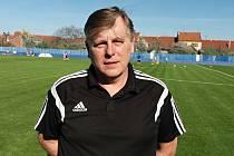 Trenér fotbalistů Kunovic Vratislav Chaloupka