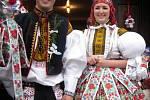 Soutěžní pár číslo 19 - Veronika Rozumková a Petr Kanyza, Huštěnovice, mladší stárci na hodech 17. listopadu.