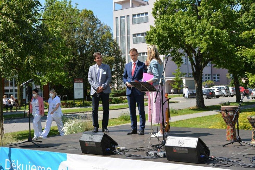 Koncert pro zdravotníky v Uherskohradišťské nemocnici.