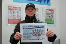 Ševčík s odměnou za 1. místo poukazem v hodnotě 5000 korun.