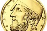"""Zlatý dukát. Motiv tohoto """"zlaťáku"""" vytvořil akademický sochař Vladimír Oppl původně pro českou korunovou minci."""