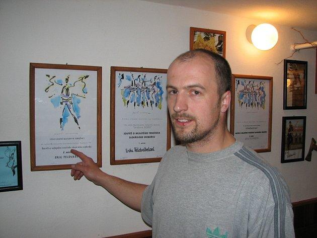 KRÁL VERBÍŘŮ. Erik Feldvabel vládl po čtyři roky verbířům Slovácka,  Horňácka a Podluží.