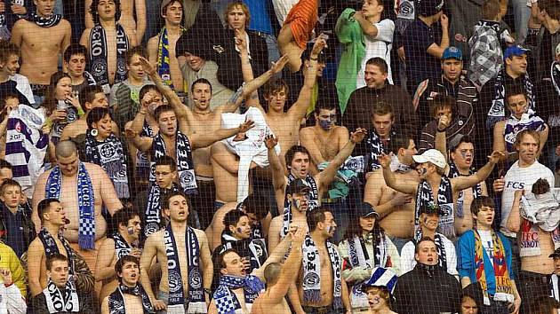 Fanoušci 1. FC Slovácko. Ilustrační foto.