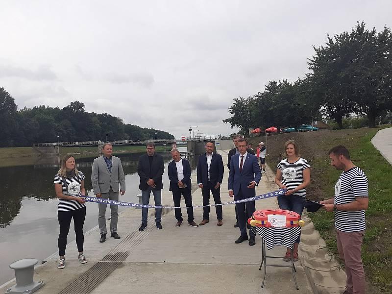 Slavnostní otevření přístaviště Kunovský les.