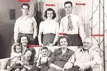 Rodina Ondrušků někdy kolem roku 1950