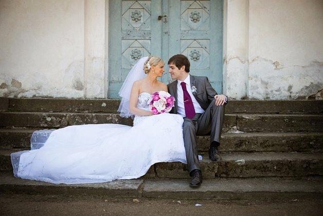 Soutěžní svatební pár číslo 190 - Iveta a Jan Sedláčkovi, Chvaletice.