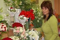 Práce floristů často připomínají umělecké dílo. Mohou se o tom přesvědčit i návštěvníci floristické prezentace v Babicích.