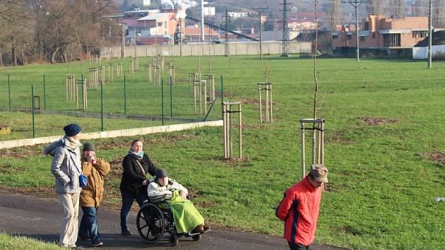 Do lokality u nového parku Mařatské chodí spousta obyvatel Uherského Hradiště na vycházku.