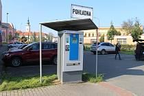 Parkovací automat v centru Uherského Hradiště. Ilustrační foto.