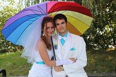 Soutěžní svatební pár číslo 129 - Andrea a Jan Hoškovi, Zábřeh