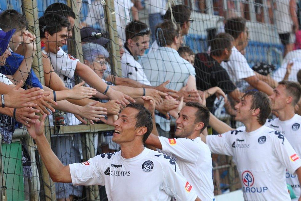 1. FC Slovácko - Jihlava. Fujerik, Martan, Haša.