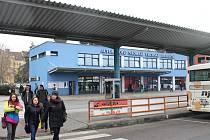 Autobusové nádraží v Uherském Hradišti.