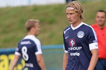 Talentovaný fotbalista Emil Tischler hostuje ze Slovácka v Pardubicích.