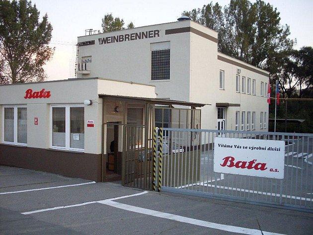 Pohled na budovy výrobní divize společnosti Baťa v Dolním Němčí.