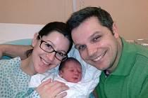 Herec David Vaculík s rodinou.