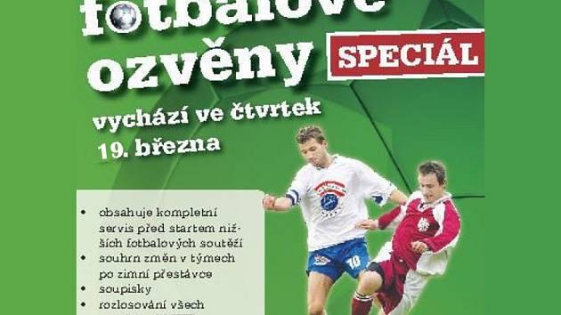 Fotbalové ozvěny vychází ve čtvrtek 19. března.