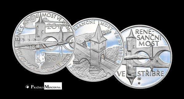 Kolekce Most ve Stříbře existuje ve zlatém istříbrném provedení. Na výběr jsou vždy dvě velikosti vúpravách proof istandard.