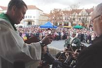 Křest a ochutnávka svatomartinských vín v Uherském Hradišti.