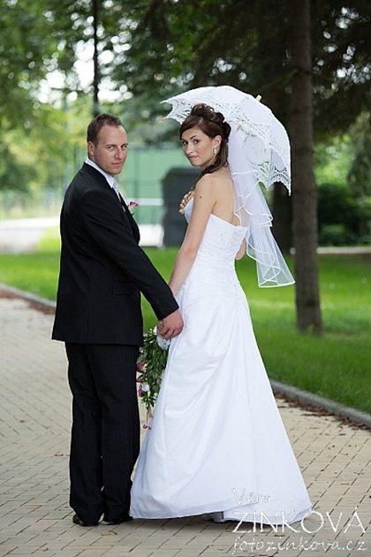 Soutěžní svatební pár číslo 160 - Petr a Petra Zatloukalovi, Bohuňovice.