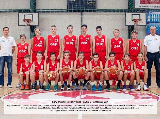 Úspěšný tým žáků U15 BK TJ Uherský Brod