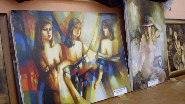 Výstava obrazů Ašota Arakeljana v Horním Němčí