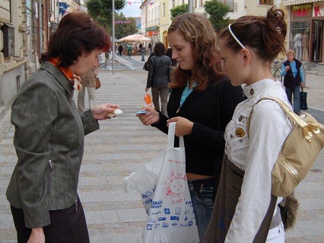 Akce se zúčastnili také studenti, kteří navštěvují střední školy v okolních městech.