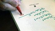 Podpis Václava Havla.