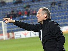 Fotbal Synot Liga 1. FC Slovácko - FK Teplice.Trenér Teplic Petr Rada.