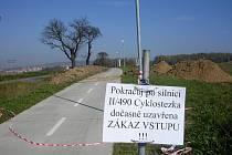 Cyklostezka do Nivnice je dočasně uzavřena.