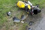 Nehoda na silnici E50 u motorestu U Trampa.