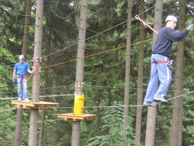 V lanovém centru našli zalíbení vyznavači adrenalinu.