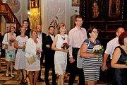 LETNÍ KURZ. Vyvrcholením 24. Manželského setkání na Velehradě byla v pátek obnova manželského slibu.