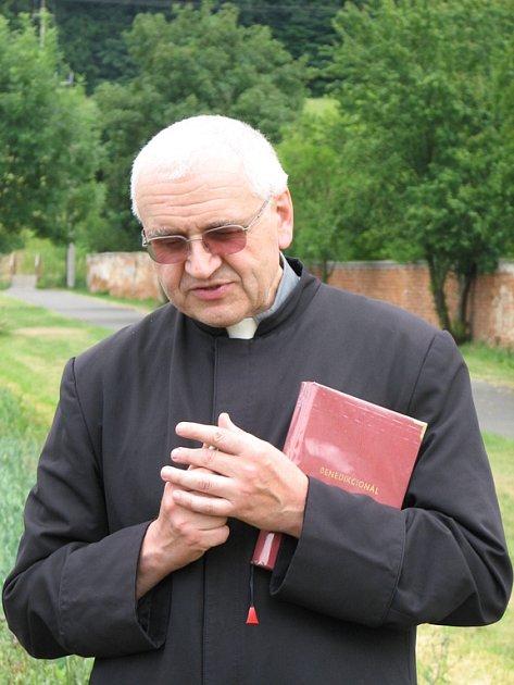 Organizátor pěší pouti Páter Jan Peňáz ze Křtin.
