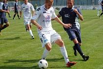 Vlastimil Daníček a jeden z hráčů Hulína.