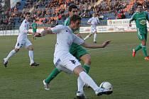 ibor Došek (vlevo) otevřel skóre zápasu na Bohemce, Tomáš Břečka vstřelil rozdílový gól. Ilustrační foto.