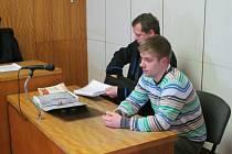 Petr Plášek u soudu v Uh. Hradišti.