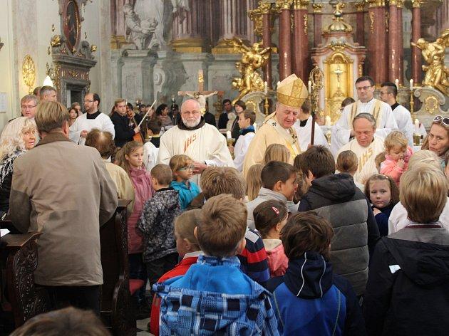 Slavnostní bohoslužba v den výročí 760 let od první písemné zmínky o založení města Uherské Hradiště králem Přemyslem Otakarem II.
