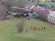 Cvičení ve Zlíně se zúčastnili i záchranáři z Bochoře.