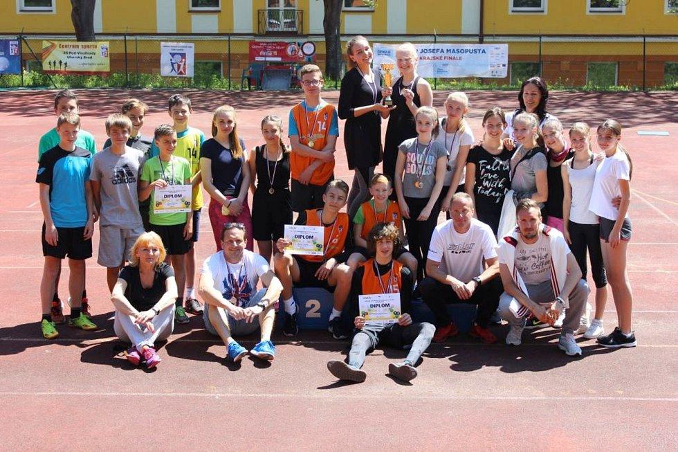 Školní družstvo ZŠ Pod Vinohrady Uherský Brod se probojovalo do Republikového finále Olympijského víceboje. V okresním kole postavila brodská ZŠ Pod Vinohrady.