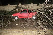 Nebezpečně vypadající nehoda se udála v Buchlovicích.