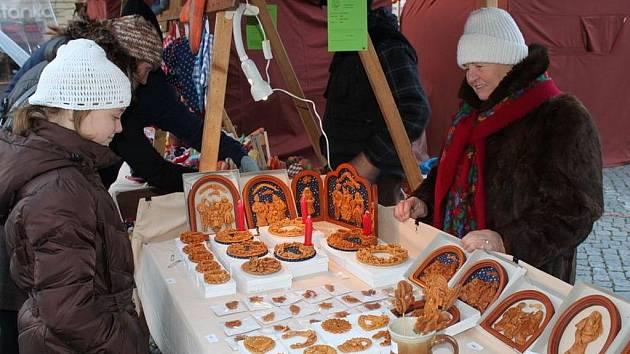 Na jarmarku vizovické pečivo prodávala Jana Fialová z Brna.