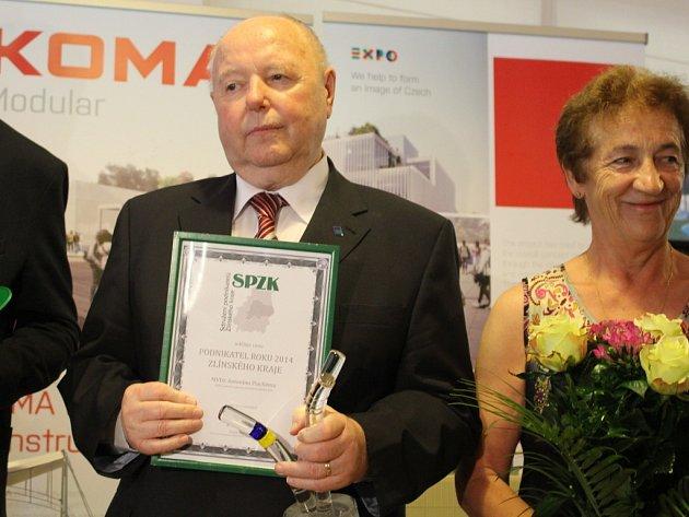 Podnikatel roku Antonín Plachý si převzal ocenění v prostorách lázní v Ostrožské Nové Vsi.